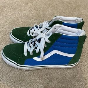 Vans Boys Youth Sk8-Hi Zip Shoes Size 6